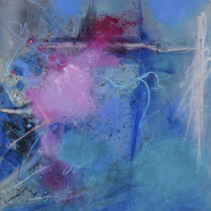 Blue again (pink dot) II