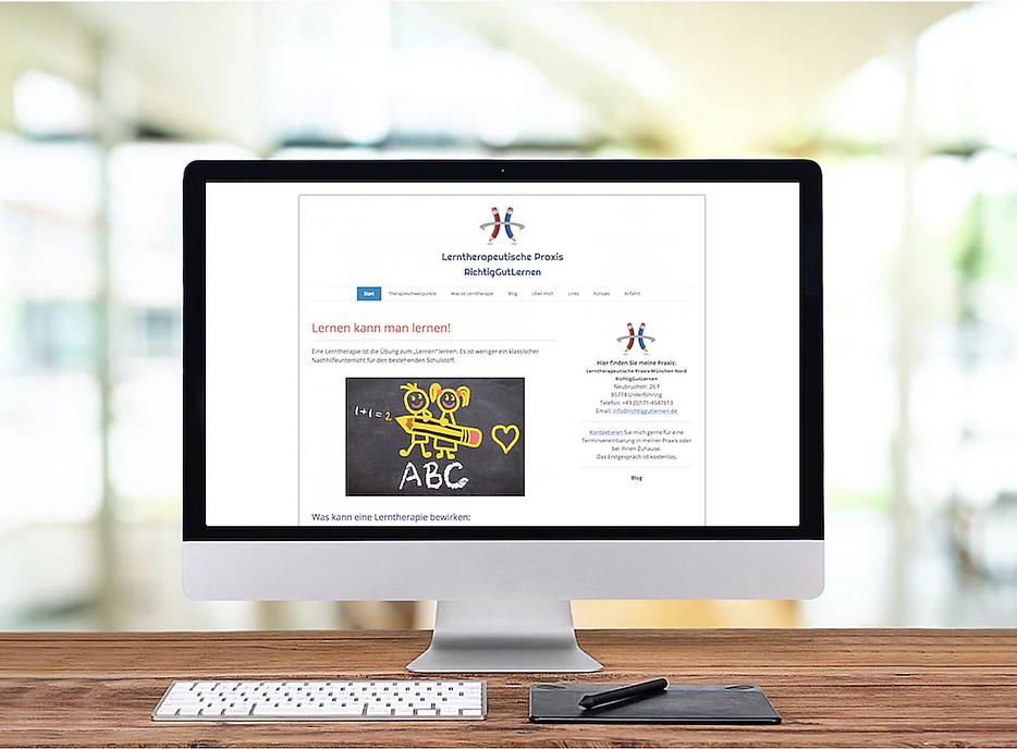 Webdesign für unseren Kunden aus München - Lerntherapie und schulische Begleitung