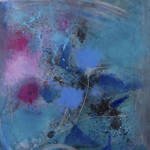 Blue again (pink dot) III