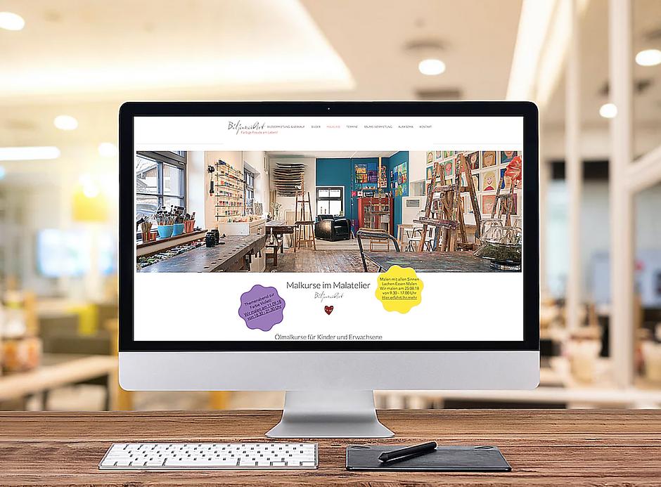 Webseitenerstellung für Künstler und Maler von Red Star Webdesign München, Rosenheim, Bayern