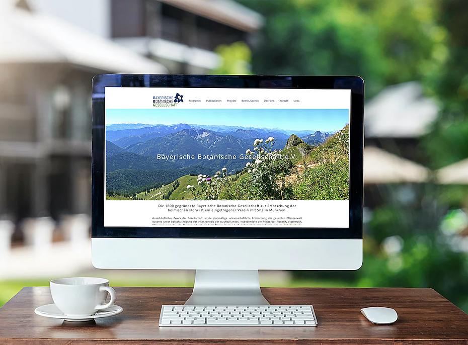 Webseite von der Webdesign Agentur Red Star Design für die bayerische Botanische Gesellschaft München, Deutschland