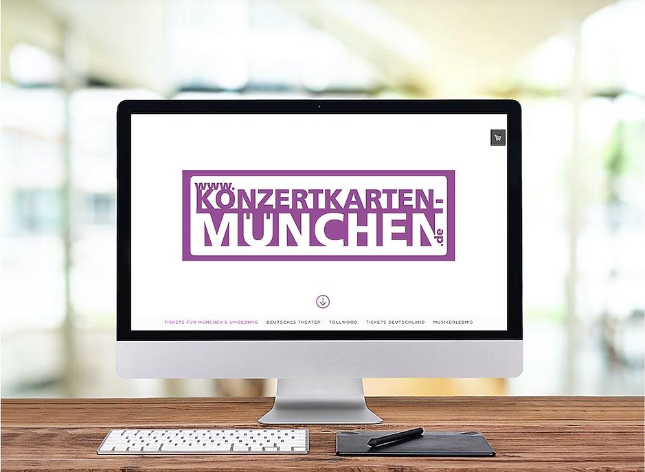 Onlineshop aus München für Konzertkartenvorverkauf - Musik - Webdesign von Red Star Webdesign