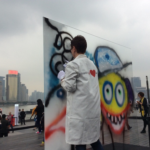 Street Art Festival on the Bund in front of SAPH