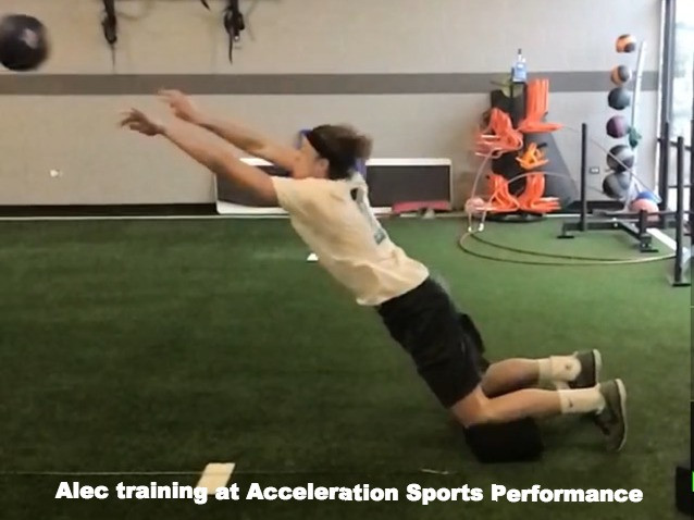 Alec Pierce training at Acceleration Sports Performance