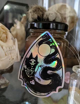 Holographic ghostie planchette sticker