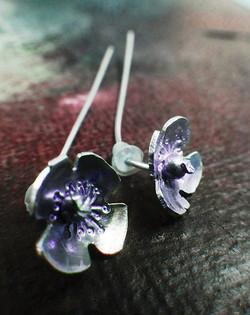 Seedling earrings - poppy