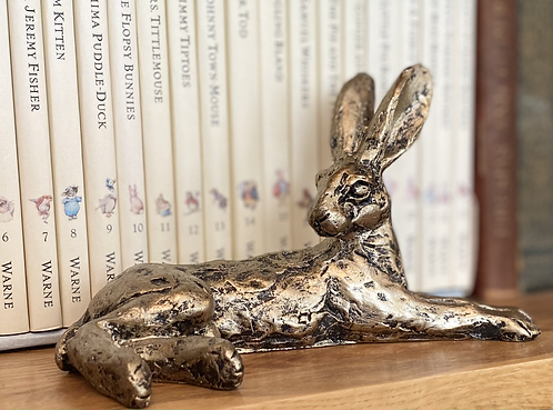 Beautiful Aged Bronze Effect Hare