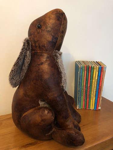 Faux Leather Brown Hare Doorstop