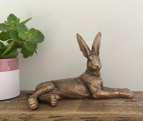 Bronze Decorative Laying Hare