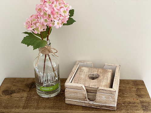 Rustic Wooden Heart Coasters