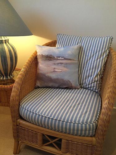 Sue Fenlon 'White Boat' Cushion 43cm