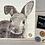 Thumbnail: Hand Painted, Decoupaged Rabbit Log