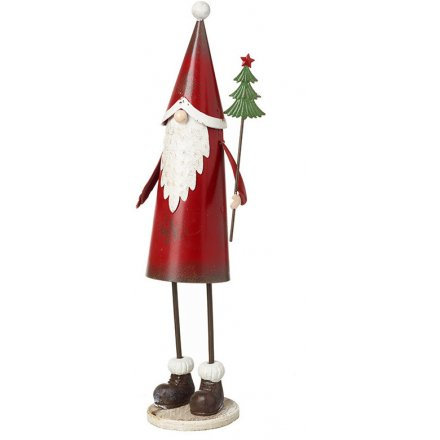Rustic Metal Father Christmas