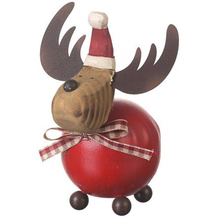 Festive Reindeer with Gingham Bow