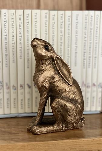 Decorative Bronzed Gazing Hare