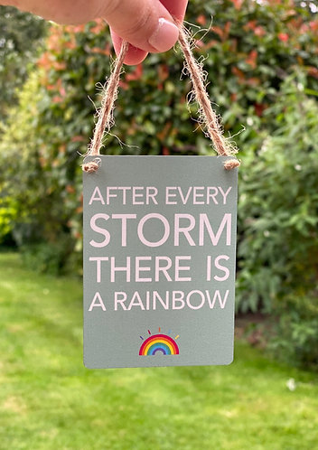 Mini Rainbow Hanging Sign