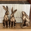 Thumbnail: Decorative Pair of Bronzed Hares