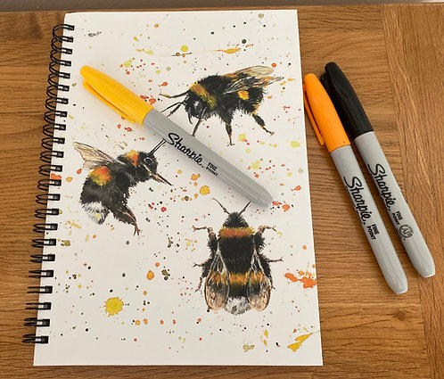 Bee Happy A5 Notepad
