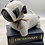 Thumbnail: Grey Herringbone Pug Doorstop