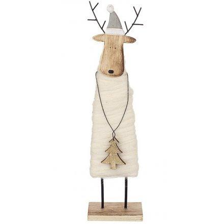 Rustic Wooden Reindeer