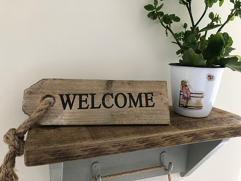 Rustic, Reclaimed Wooden Welcome Sign