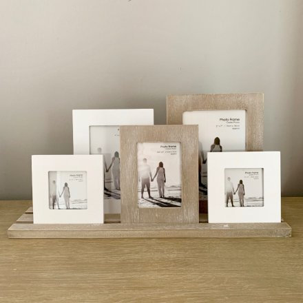 Rustic Selection of 5 Picture Frames