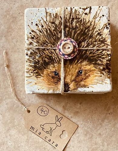 Hedgehog natural stone travertine coasters