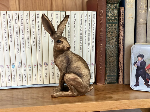 Decorative Bronzed Sitting Hare