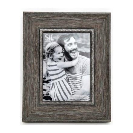 """Shabby Chic Grey Wooden Photo Frame 5X7"""""""