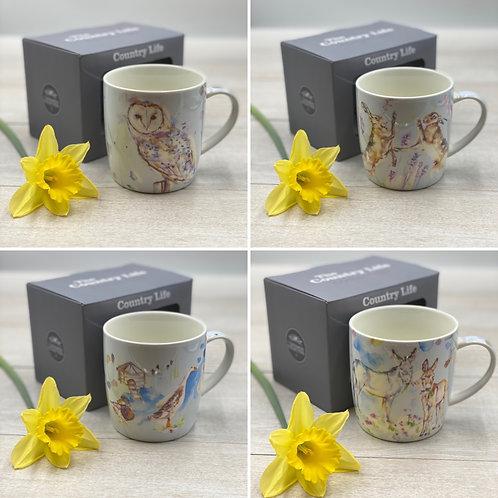 Fine China Country Life Boxed Mug