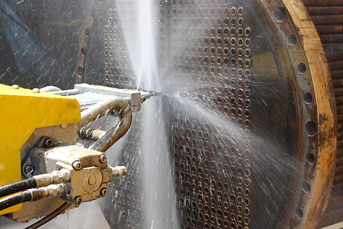 Hydrojetting of Heat exchanger.JPG