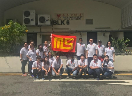 Mun Siong Group Volunteers at Willing Hearts