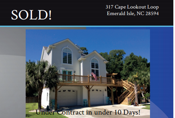 317 Cape Lookout Loop | Emerald Isle NC | Sold by Crystal Coast Realty & Home Services