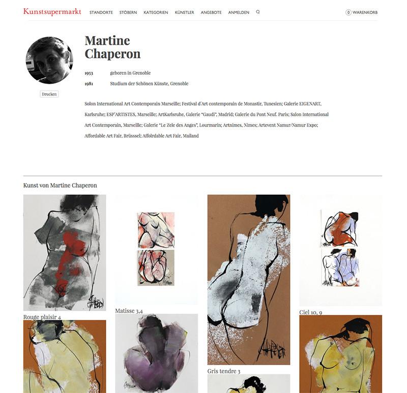 kunstsupermarkt.de, Martine Chaperon