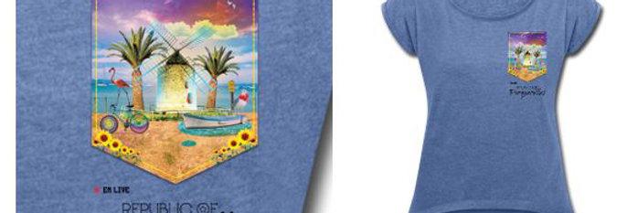 "T-Shirt Femme ""Republic of Porquerolles"""