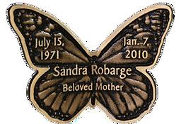 Monarch Bronze Memorial Butterfly, Twin Valley Memorial Park
