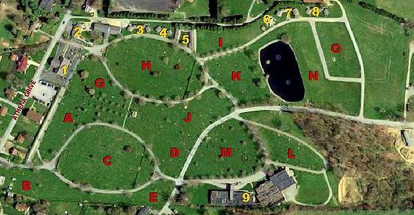 Arial Ground Map of Twin Valley Memorial Park