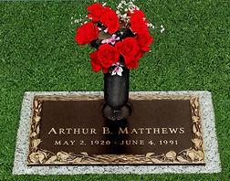 Misty Rose Individual Bronze Memorial, Twin Valley Memorial Park