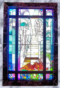 Jacobs Ladder Stained Glass Window, Twin Valley Memorial Park