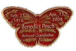 Tiger Bronze Memorial Butterfly, Twin Valley Memorial Park