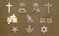 Some of the bronze religious emblems available for personalization of our bronze memorials