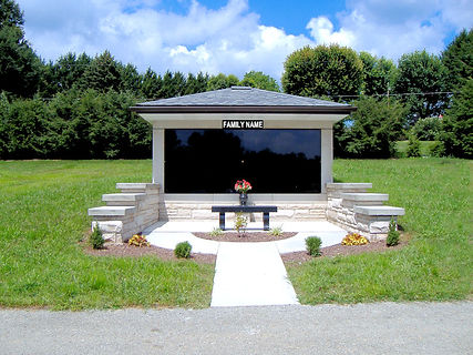 Custom Built Private Mausoleum at Twin Valley Memorial Park