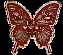 Swallowtail Bronze Memorial Butterfly, Twin Valley Memorial Park