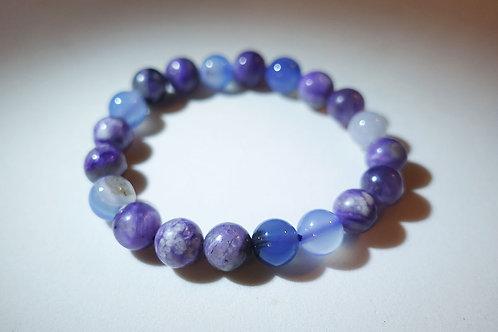 紫龍晶藍瑪瑙手串