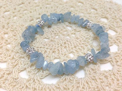 海藍寶碎石手串