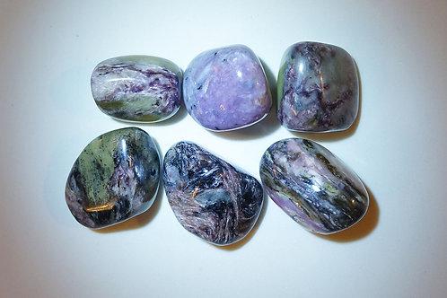紫龍晶打磨原石