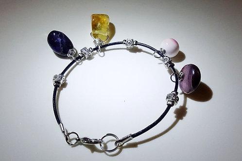 四元素晶石皮手繩