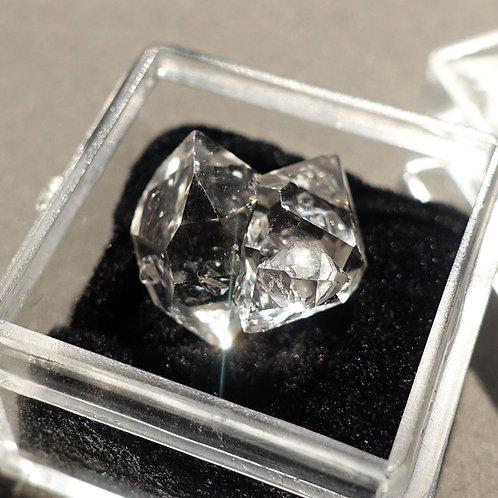 赫基蒙鑽石(閃靈鑽)雙晶#1