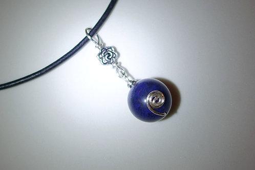 藍線石皮頸繩