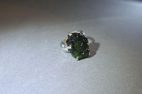 捷克隕石925銀戒指1